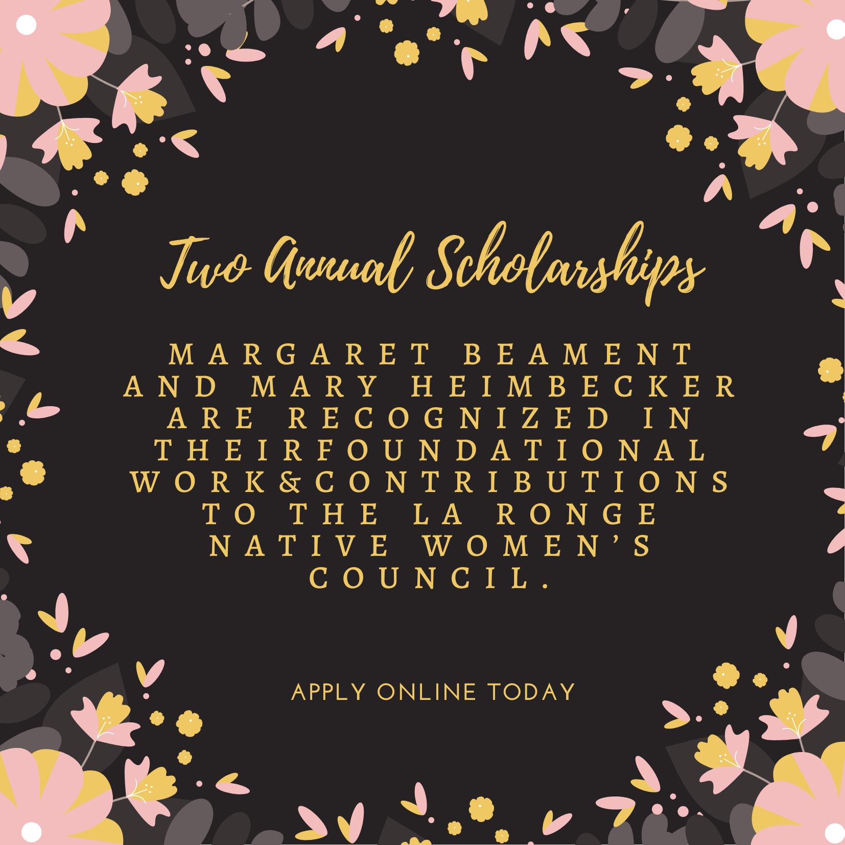 Two Scholarships!